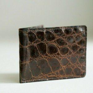 Vintage Alligator Brown Classis Card Holder